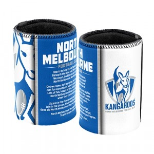 AFL NORTH MELBOURNE TEAM SONG STUBBY HOLDER