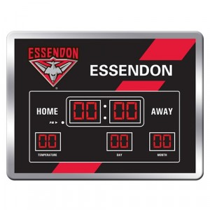 AFL ESSENDON SCOREBOARD CLOCK