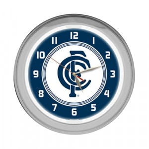 AFL CARLTON NEON CLOCK
