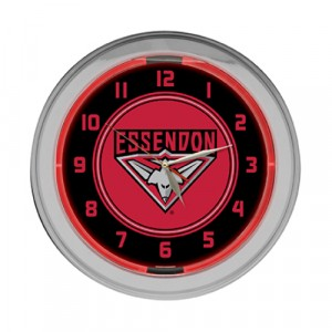 AFL ESSENDON NEON CLOCK