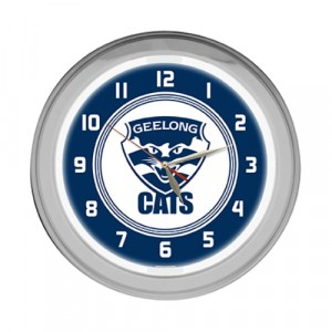 AFL GEELONG NEON CLOCK