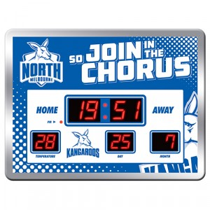 AFL NORTH MELBOURNE SCOREBOARD CLOCK