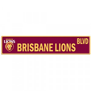AFL BRISBANE LIONS STREET SIGN