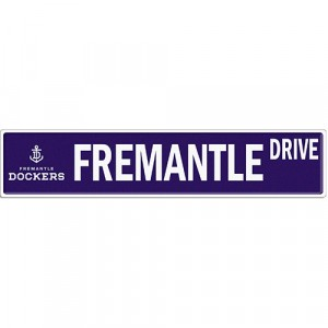 AFL FREMANTLE STREET SIGN