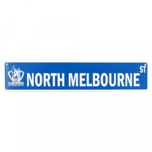 AFL NORTH MELBOURNE STREET SIGN