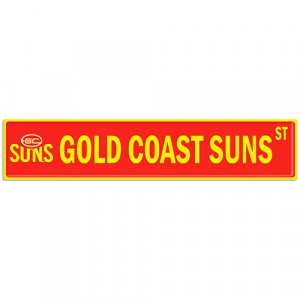 GOLD COAST SUNS STREET SIGN