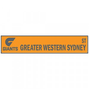 AFL GREATER WESTERN SYDNEY STREET SIGN