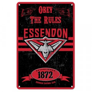 AFL ESSENDON RETRO TIN SIGN
