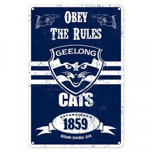 AFL GEELONG RETRO TIN SIGN