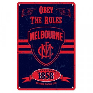 AFL MELBOURNE RETRO TIN SIGN