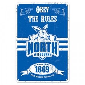 AFL NORTH MELBOURNE RETRO TIN SIGN