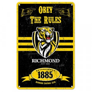 AFL RICHMOND RETRO TIN SIGN