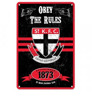 AFL ST KILDA RETRO TIN SIGN