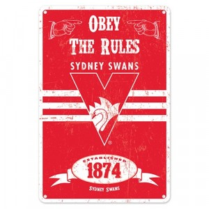 AFL SYDNEY RETRO TIN SIGN