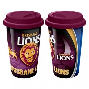 AFL BRISBANE LIONS CERAMIC TRAVEL MUG