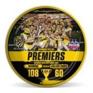 AFL RICHMOND PREMIERS 2017 TEAM CERAMIC PLATE