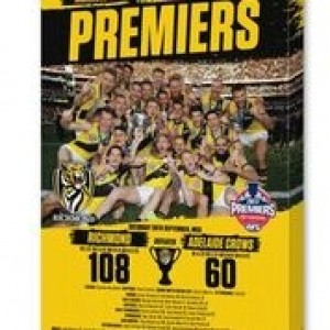 AFL RICHMOND PREMIERS 2017 TEAM CANVAS