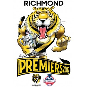 AFL RICHMOND 2017 PREMIERS CARICATURE STICKER
