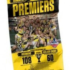 AFL RICHMOND 2017 PREMIERS TEAM WALL FLAG