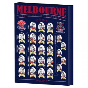 MELBOURNE AFL TEAM OF THE CENTURY CANVAS