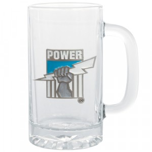 AFL PORT ADELAIDE STEIN WITH METAL BADGE