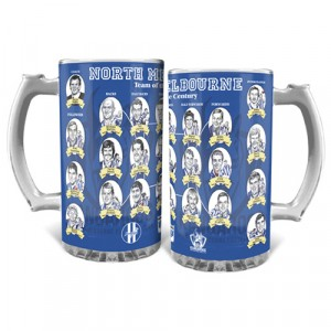 AFL NORTH MELBOURNE TEAM OF THE CENTURY GLASS STEIN