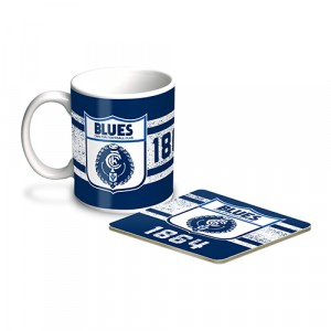 AFL CARLTON MUG & COASTER PACK