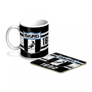 AFL COLLINGWOOD MUG & COASTER PACK