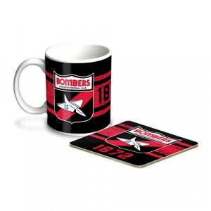 AFL ESSENDON MUG & COASTER PACK