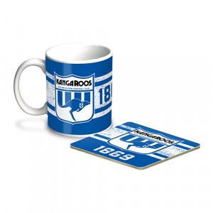 AFL NORTH MELBOURNE MUG & COASTER PACK