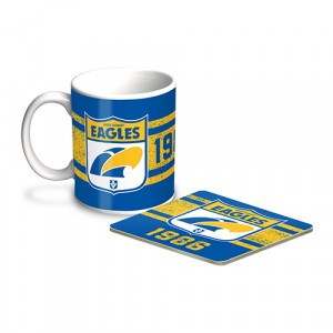 AFL WEST COAST EAGLES MUG & COASTER PACK