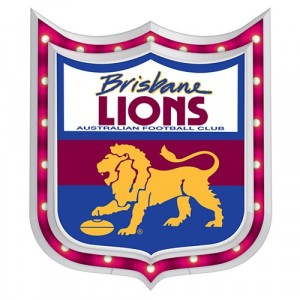AFL BRISBANE LIONS LIGHT-UP TIN SIGN
