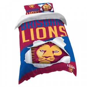 BRISBANE LIONS AFL DOONA COVER - SINGLE