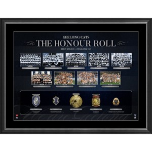 AFL HONOUR ROLL – GEELONG FRAMED
