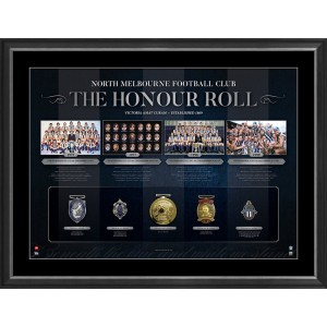AFL HONOUR ROLL - NORTH MELBOURNE FRAMED