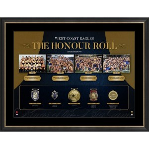 AFL HONOUR ROLL - WEST COAST FRAMED