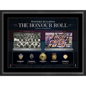 AFL HONOUR ROLL - WESTERN BULLDOGS FRAMED