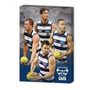 AFL GEELONG 4 PLAYER CANVAS