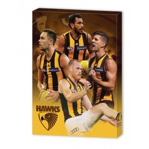 HAWTHORN AFL 4 PLAYER CANVAS