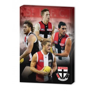 AFL ST KILDA 4 PLAYER CANVAS