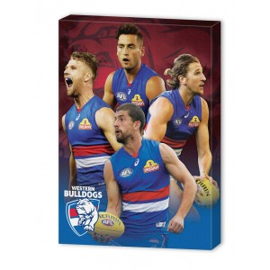 AFL WESTERN BULLDOGS 4 PLAYER CANVAS