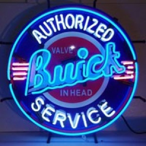 BUICK AUTHORIZED SERVICE NEON SIGN (60CM ROUND)