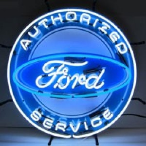 FORD AUTHORIZED SERVICE NEON SIGN (60CM ROUND)