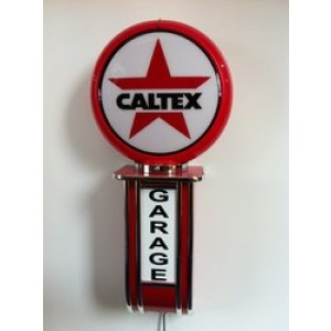 CALTEX ILLUMINATED WALL MOUNTED GARAGE SIGN