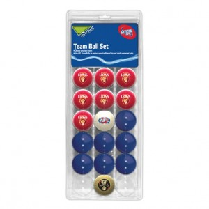 AFL BRISBANE POOL BALLS TEAM Vs COLOUR - 16 BALL PACK