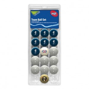 AFL CARLTON POOL BALLS TEAM Vs COLOUR - 16 BALL PACK