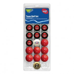 AFL ESSENDON POOL BALLS TEAM Vs COLOUR - 16 BALL PACK