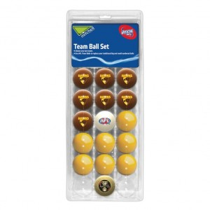 AFL HAWTHORN POOL BALLS TEAM Vs COLOUR - 16 BALL PACK