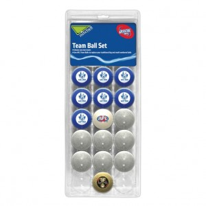 AFL KANGAROOS POOL BALLS TEAM Vs COLOUR - 16 BALL PACK