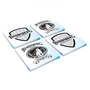 BUNDABERG RUM SET OF 4 GLASS COASTERS
